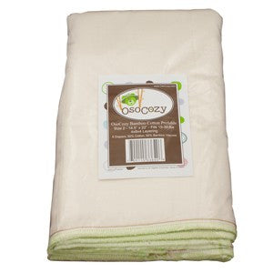 OsoCozy Bamboo Cotton Prefolds 6 Packs