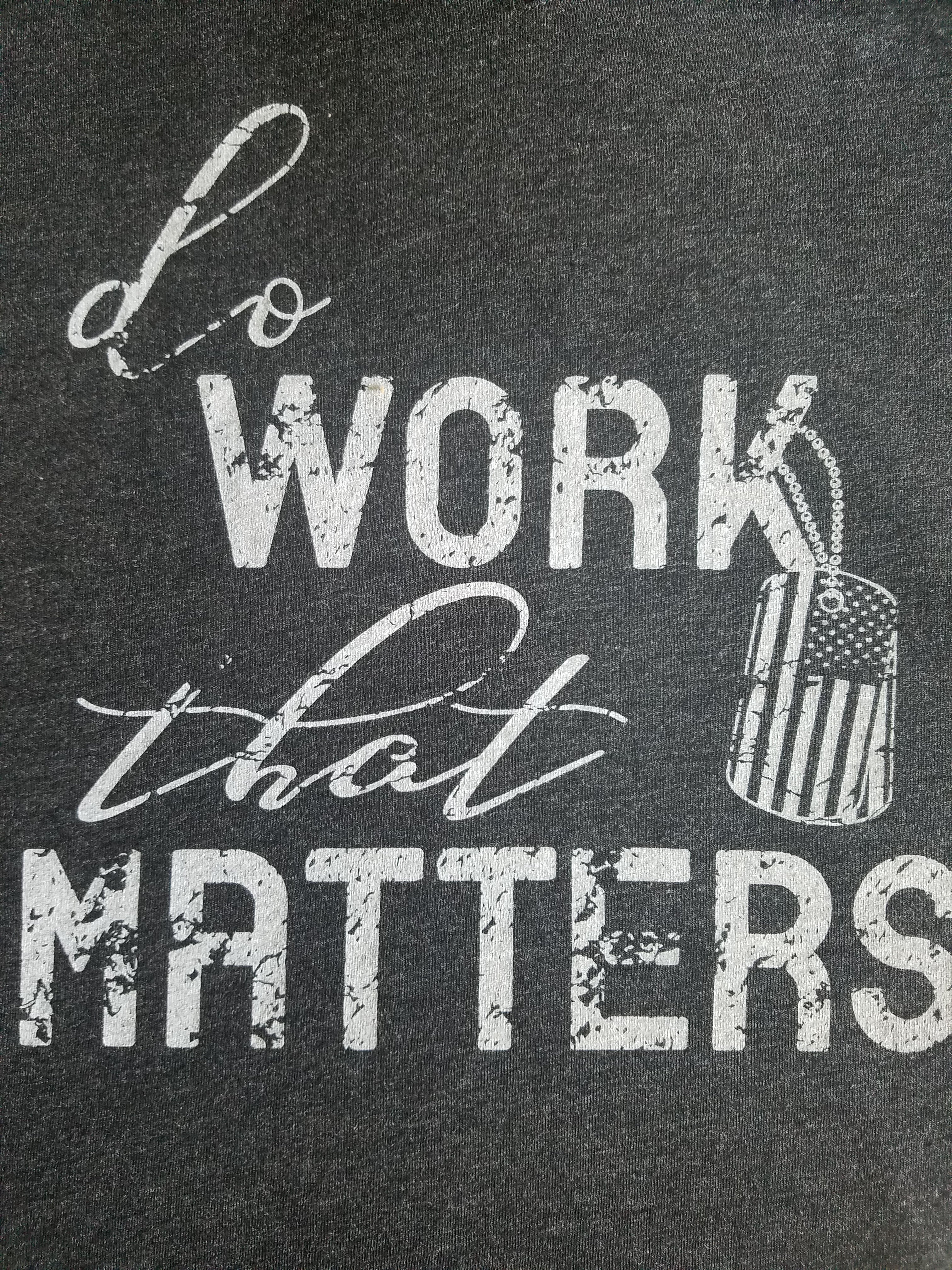 Ladies' Military Inspired Flowy V Neck Tee - Do Work That Matters
