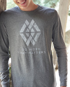 "Do Work That Matters ""Logo"" Long Sleeve Tee - Do Work That Matters"