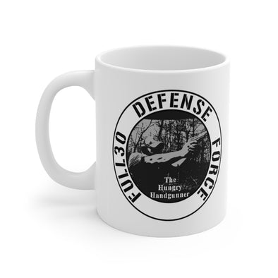 The Hungry Handgunner Defense Force 11oz Mug