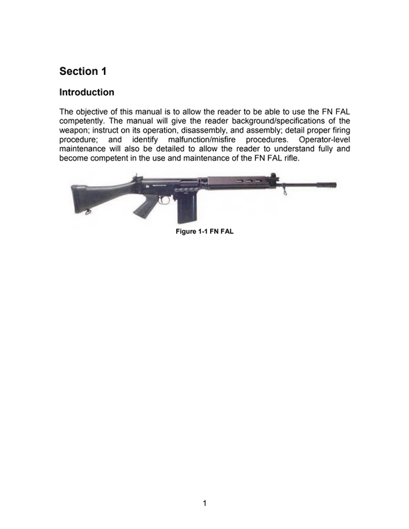 Practical Guide to the Operational Use of the FN FAL
