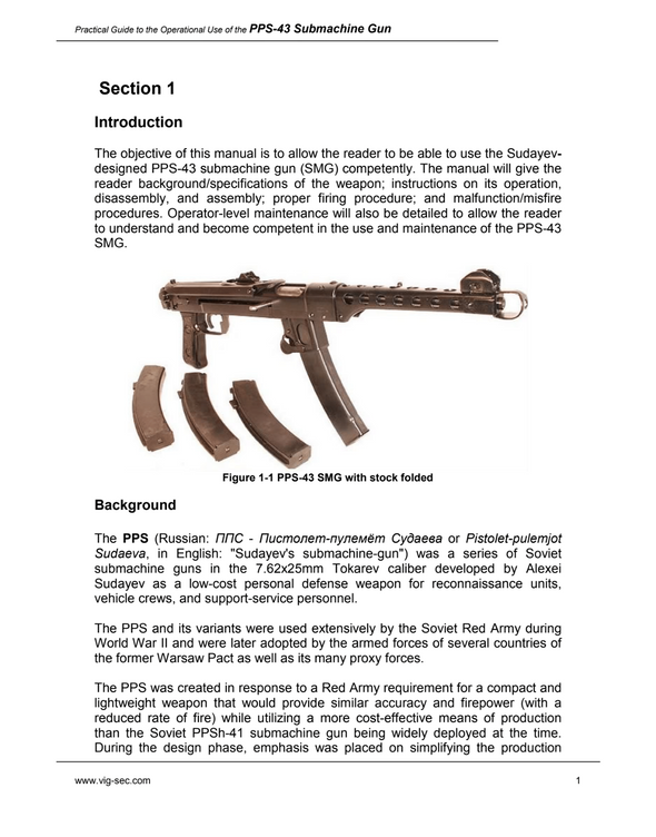 Practical Guide to the Operational Use of the PPS-43