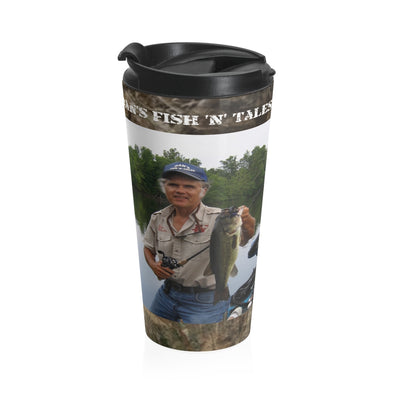Dan's Fish 'N' Tales®/Shoot 'N' Plink™ - Stainless Steel Travel Mug