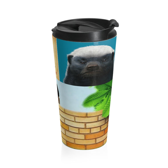 HONEY BADGER Stainless Steel Travel Mug
