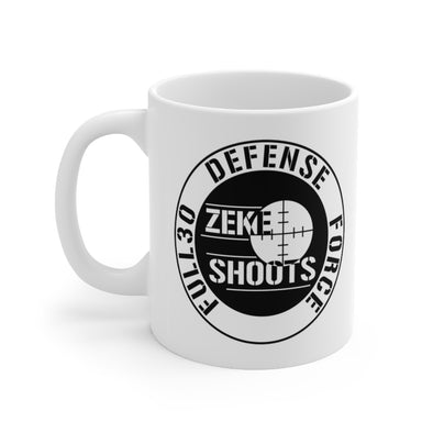 ZEKE SHOOTS DEFENSE FORCE Mug 11oz