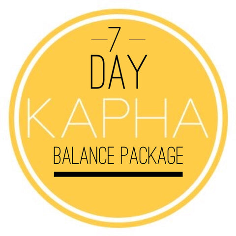 KAPHA 7 Day Balance Package
