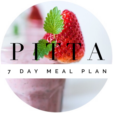 PITTA 7 Day Meal Plan