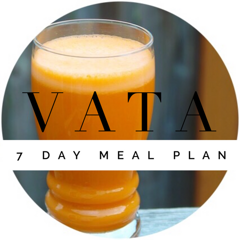 vata 7 day meal plan