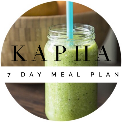 KAPHA 7 Day Meal Plan