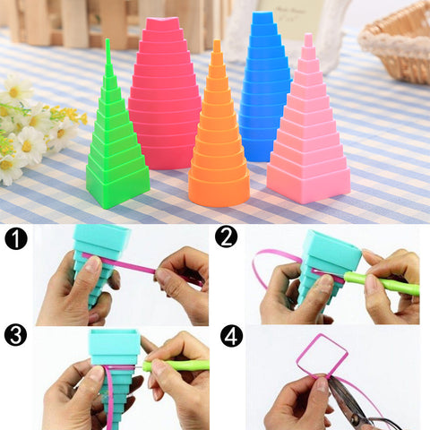 Weird Deck - DIY - 5Pcs/1Set Creative Papercraft Tower Shape Paper Quilling Tools