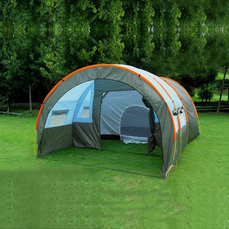 Weird Deck - Tent - 480*310*210cm Large Doule Layer Tunnel Tent Up To 5-8 Person