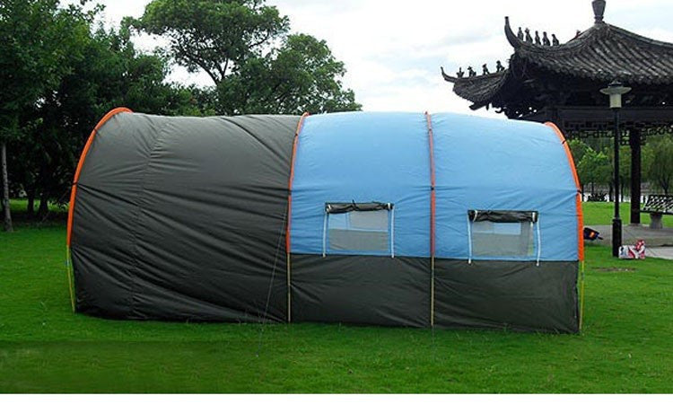 480*310*210cm Large Doule Layer Tunnel Tent Up To 5-8 Person