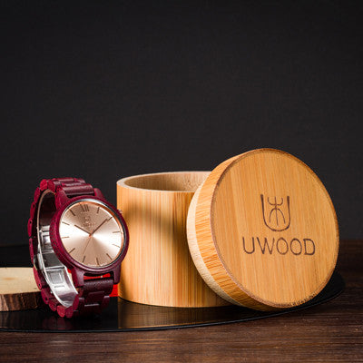 Super Luxury Handmade Natural Black Sandal Wood Analog Men`s Wooden Wristwatch