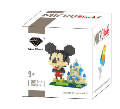 Mikey Mouse and Castle TV & Movies Mini Figures Minecraft Building Blocks