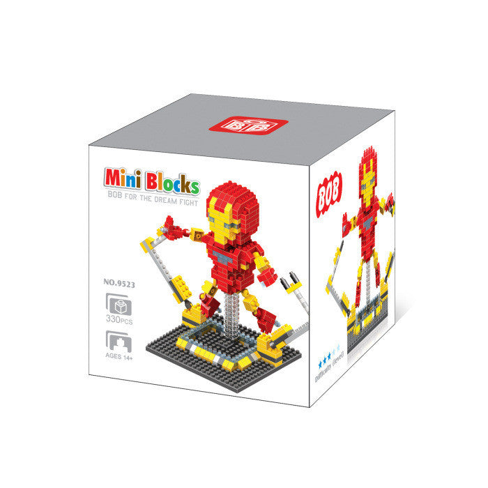 Marvel Avengers  IRON MAN Mini Figures Minecraft Building Blocks