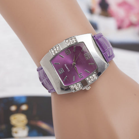 Multi Color luxury Quartz Rhinestone Women Casual Dress Wrist Watch