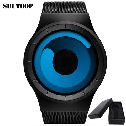 2 Colors Unique Weird Movement Design Outdoor Sport Watch With Gift Box