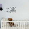 The Princess Sleep Here Quote Wall Art Sticker