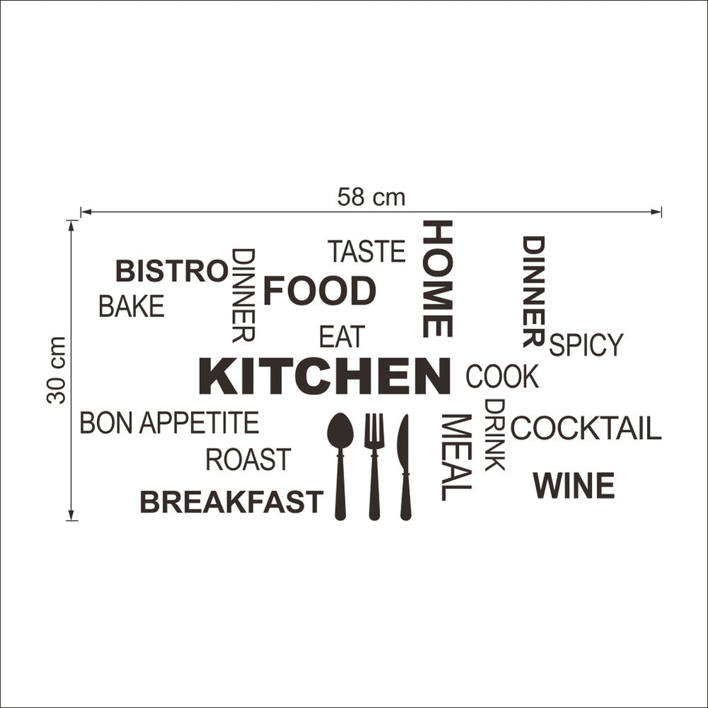 Home Decor Dining Quotes Wall Decals for Restaurant