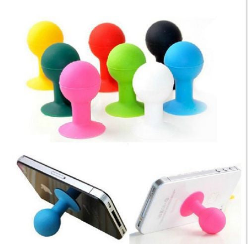 2Pcs Mini Cute Octopus Rubber Silicone Support for iPhone 4 4s 5s 6 plus