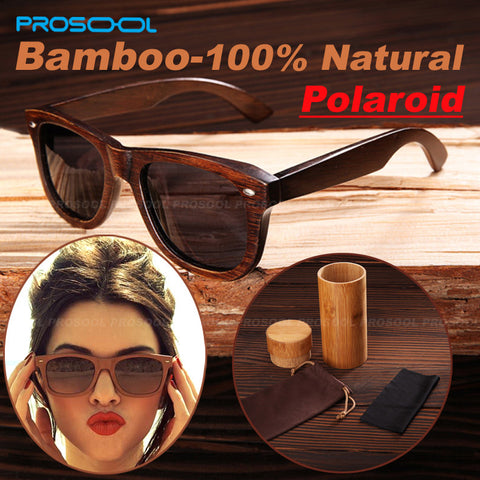 Weird Deck - Sunglasses - 100% Genuine Top Quality Polarized Handmade Bamboo Wooden Sunglasses