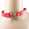 Weird Deck - Choker - 4 Colors Cool Punk Goth Rivet Heart-Shape Leather Collar Choker Necklace