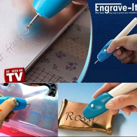 Weird Deck - DIY - DIY electric mini engraving machine / chisel word marker for metal / plastic / glass (use two AA batteries)