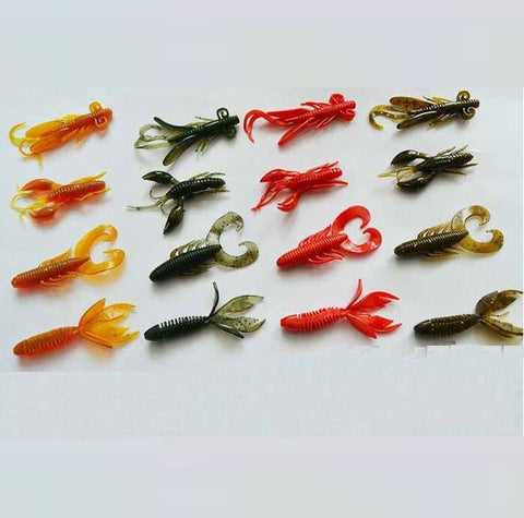 Weird Deck - Fake Bait - 16pcs/lot Soft Worm Baits Fishing Lures For Bass Fishing