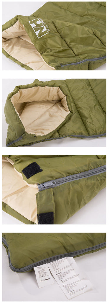 Outdoor Camping Ultralight Envelope Type Sleeping Bag for Adult