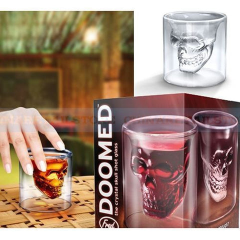 Weird Deck - Mugs - 75ml Double Wall Skull Skeleton Glass