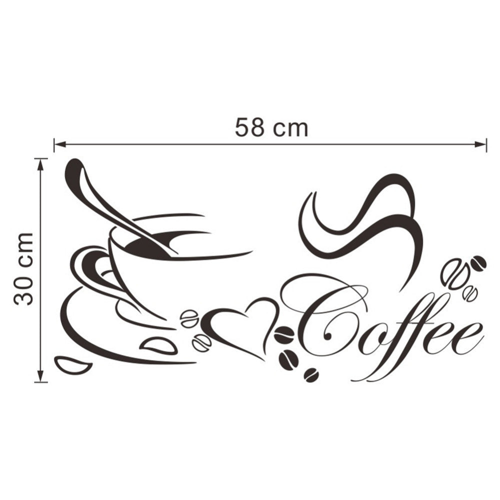 Top Desiner Designed Cup Wall Art Sticker Home/Office/Kitchen Waterproof and Removable