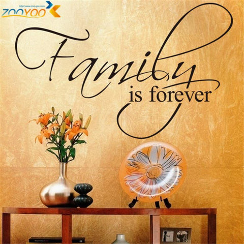 "Home Decor Creative Wall Decals Quotes For Living Room ""Family is forever"""