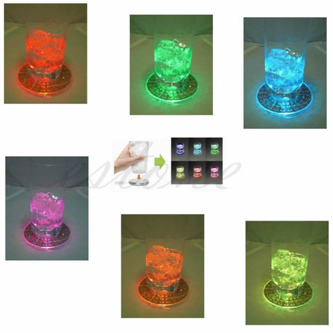 LED Color Changing Flashing Glowing Glass Mat For Christmas / Halloween Party