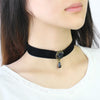 Punk Vintage Royal Black Lace Rose Beads Bridal Choker Necklaces