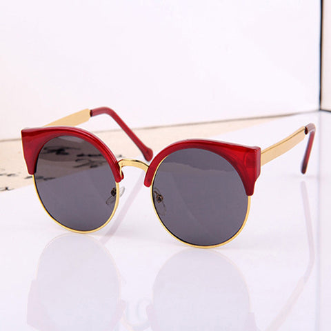High Quality Stylish Designer's Round Women Sunglasses With Low Price WDSG112