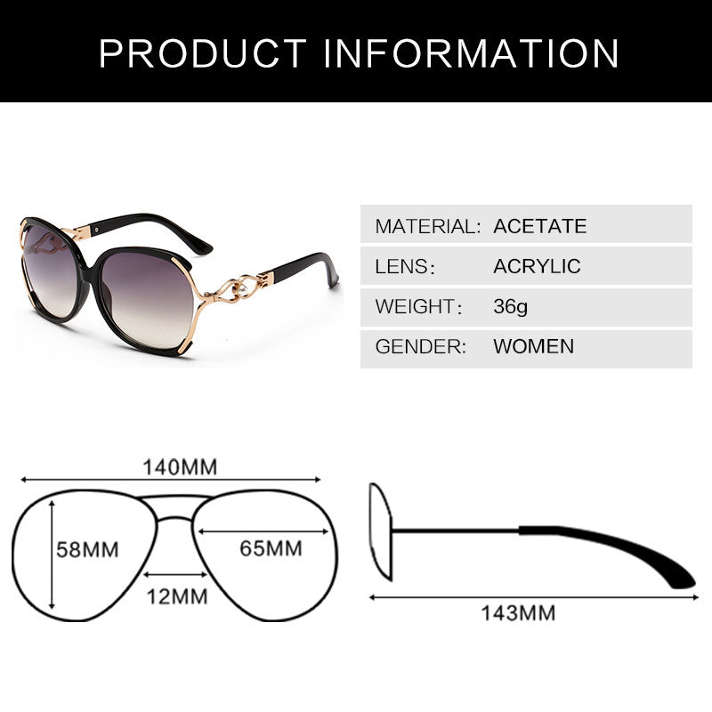 Affordable Luxury Designer's Large Frame Women Sunglasses WDSG130