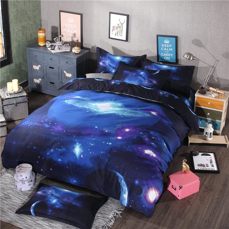 10 Variants Galaxy Queen Size 3D Bedding Sets