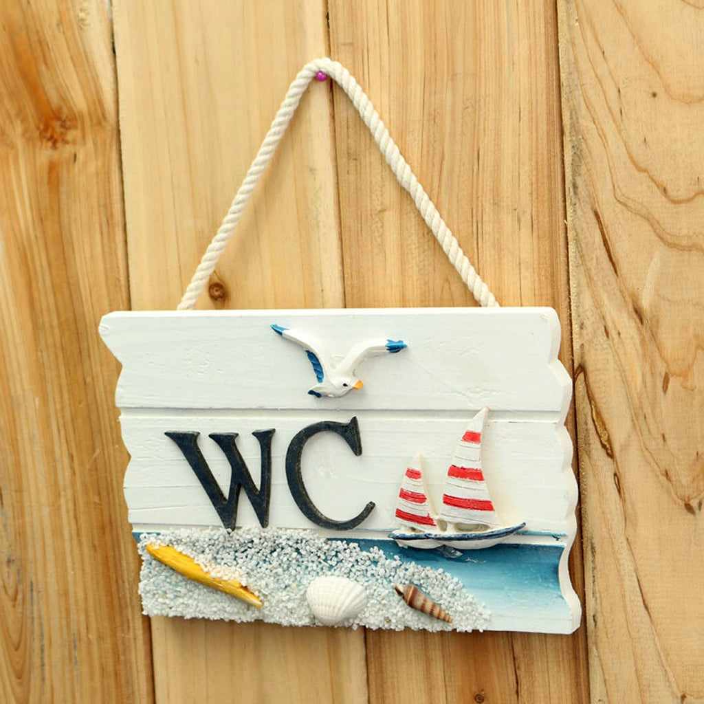 Handmade Wooden Creative Top Design Toilet Door Sign