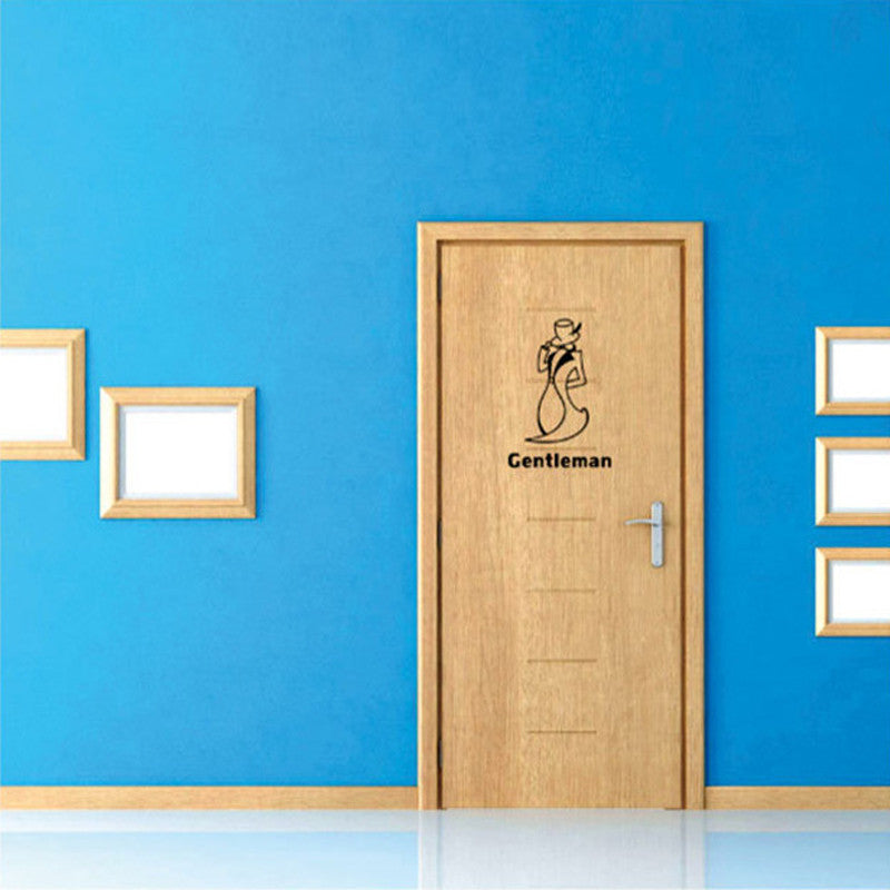 Creative DIY Vintage Top Design Toilet Door Sign Sticker 1006