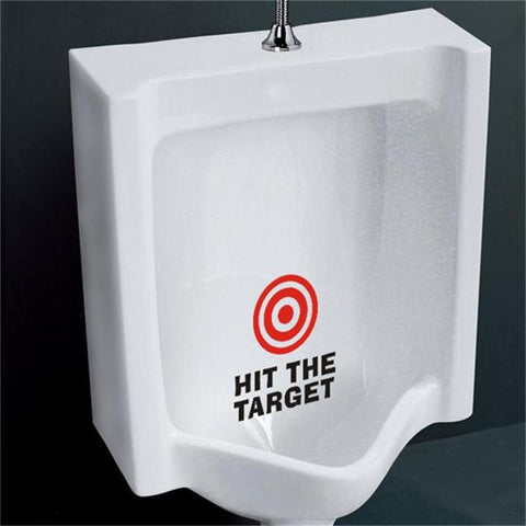 "Creative Funny ""HIT THE TARGET"" Toilet Wall Decals Sticker for Toilet Bowl"