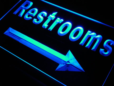 LED Arrow Restroom Toilet Light Sign with On/Off Switch