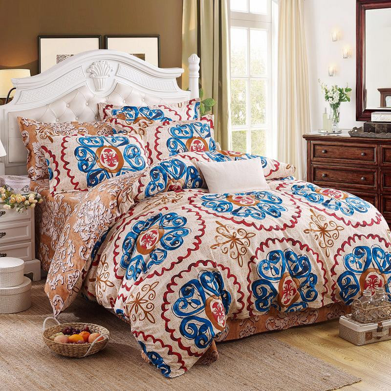 27 Variants 4pcs Soft Polyester Textile Bohemian Bedding Set
