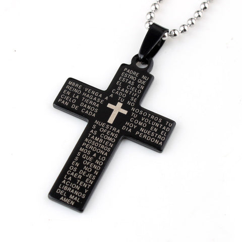 Holy Bible Cross pendant necklace
