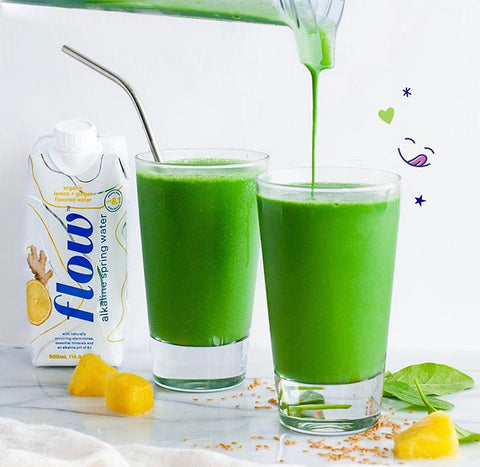 Flow Alkaline Spring Water Gut Smoothie