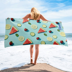 Flow Fruit Print Towel with Logo