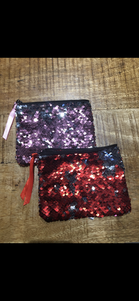 Red and Purple Sequin Bag
