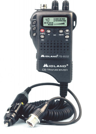 MIDLAND 75-822 40 CHANNEL ULTRA COMPACT CONVERTIBLE HANDHELD CB WITH MOBILE ADAPTER - Jeeperformance Inc