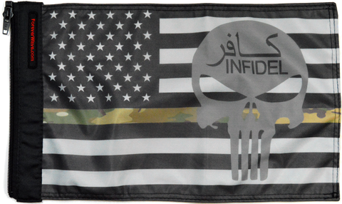 Foreverwave USA Subdued Thin Camo Line Infidel Flag - Jeeperformance Inc