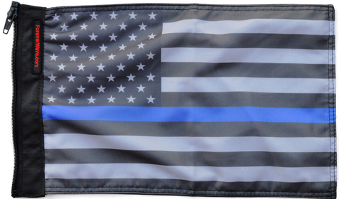 Foreverwave USA Subdued Thin Blue Line Flag - Jeeperformance Inc