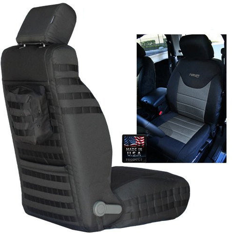 BARTACT MIL-SPEC 2013-16 JEEP WRANGLER JK FRONT SEAT COVERS (PAIR) - SRS AIRBAG COMPLIANT - Jeeperformance Inc